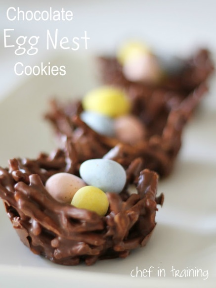 no-bake-chocolate-egg-nest-cookies